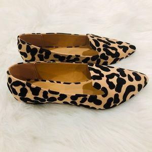 Shoes - 5⭐️TAN BLACK LEOPARD SLIP-ON FLATS SHOES